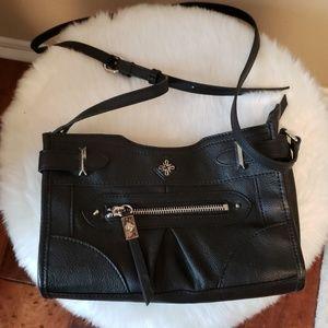Black silver crossbody purse